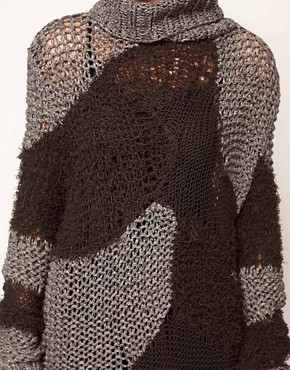 Image 3 ofDiesel Mixed Knitted Dress