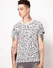 Your Eyes Lie T-Shirt with Leopard Print