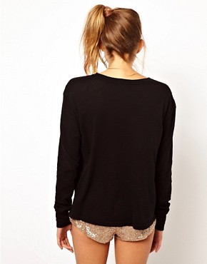 Image 2 of Wildfox Sleep In Long Sleeve T-Shirt