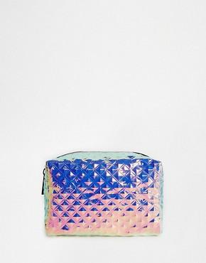 ASOS Textured Hologram Make Up Bag