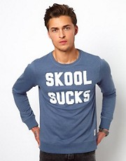 Revolution SweatShirt with Skool Sucks Print
