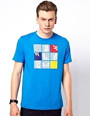 Fred Perry  T-Shirt mit Puzzle-Motiv