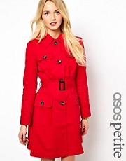 ASOS PETITE Exclusive 70&#39;s Trench