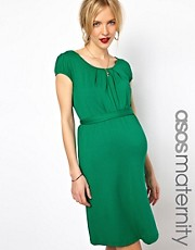 ASOS Maternity Exclusive Belted Dress with Scoop Neck