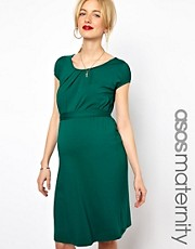 ASOS MATERNITY  Exklusives Kleid mit Grtel und U-Ausschnitt
