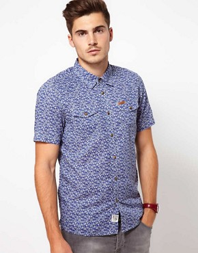 Image 1 ofFiretrap Shirt Short Sleeve With Floral Print