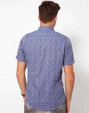 Image 2 ofFiretrap Shirt Short Sleeve With Floral Print