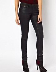Vivienne Westwood Anglomania For Lee Monroe Jegging In Cracked Cracked Leather Look