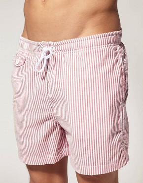 Image 1 of ASOS Stripe Swim Shorts