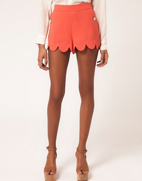 Image 4 ofLipsy Scallop Edge Short