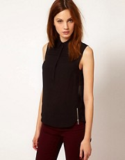 Warehouse Pleat Yoke Shirt With Hi Lo Hem