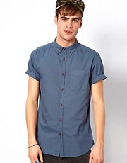 River Island Short Sleeved Oxford Shirt