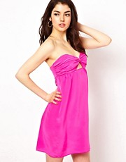 Boulee Strapless Mini Dress in Silk
