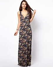 Only  Floral Camo Print Maxi Dress
