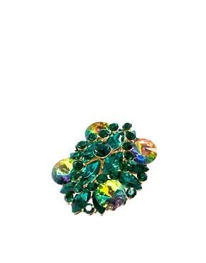 Image 1 ofASOS Multi Stone Cocktail Ring