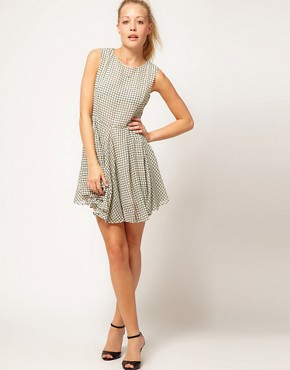 Image 4 ofGlamorous Checked Skater Dress