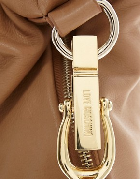 Image 2 ofLove Moschino Leather One Love Slouch Bag &amp; Purse