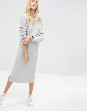 ASOS Midi Jumper Dress in Wool Mix Yarn