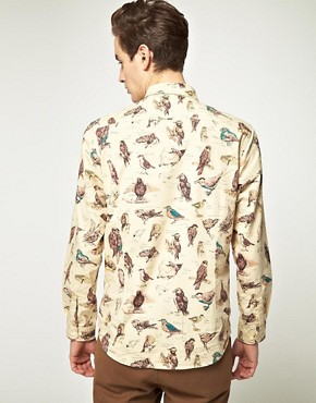 Image 2 of Barbour Jackdaw Print Shirt