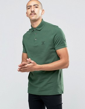Barbour Polo Shirt With Beacon Logo In Green