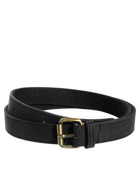 Image 1 ofASOS Leather Belt WIth Web Back