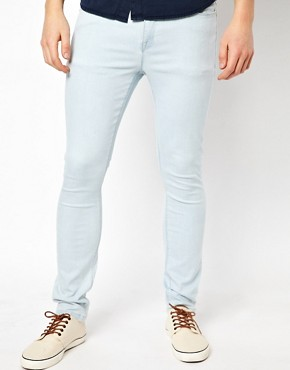 Image 1 ofASOS Super Skinny Jeans With Bleach Wash.