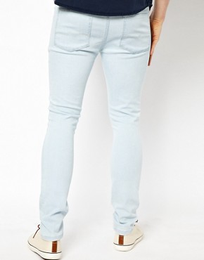 Image 2 ofASOS Super Skinny Jeans With Bleach Wash.