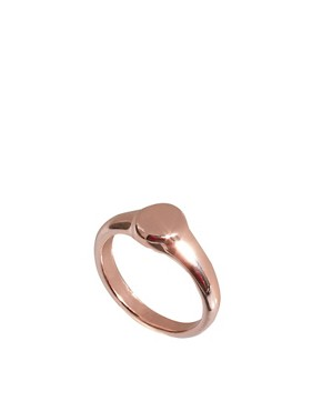 Image 1 ofASOS Mini Oval Pinky Signet Ring