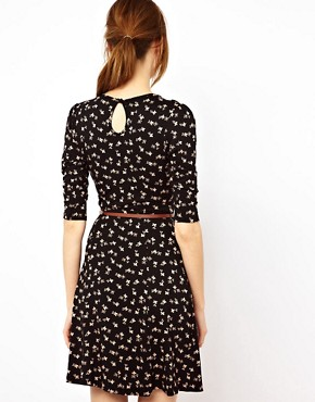 Image 2 ofWarehouse Bow Print Dress
