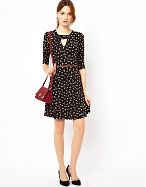 Image 4 ofWarehouse Bow Print Dress
