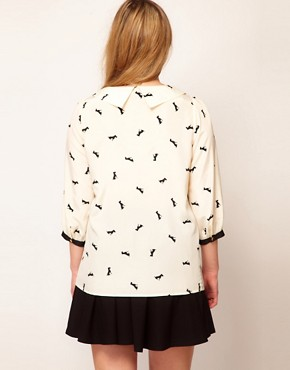 Image 2 ofASOS CURVE Exclusive Shirt In Dog Print