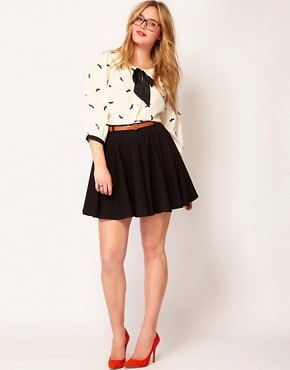 Image 4 ofASOS CURVE Exclusive Shirt In Dog Print