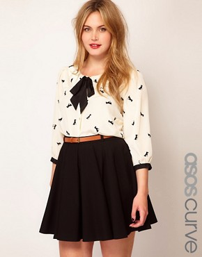Image 1 ofASOS CURVE Exclusive Shirt In Dog Print