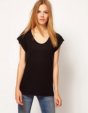 Whistles Seam Back Tee