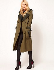 ASOS Longline Military Coat