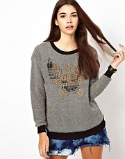 Lucca Couture Studded Jumper