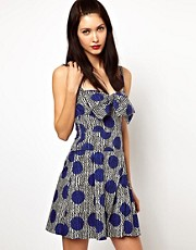 Sonia by Sonia Rykiel Dress in Zig Zag Polka Dot Print