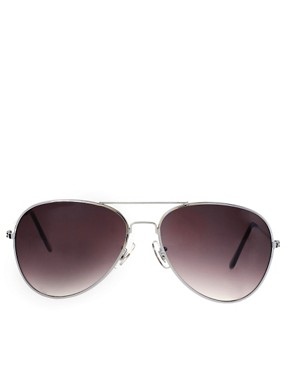 Image 2 of ASOS Silver Aviator Sunglasses