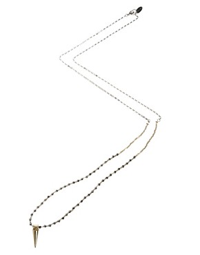 Image 2 ofOrelia Exclusive To ASOS Long Spike Necklace