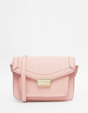 Marc B Push Lock Structured Cross Body Bag