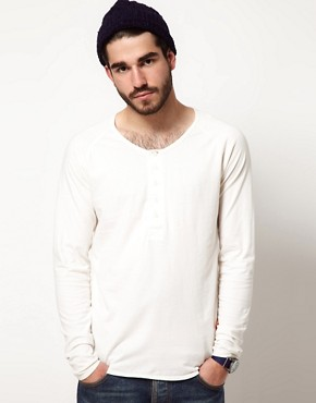 Image 1 ofNudie Henley NJ Long Sleeve T-Shirt