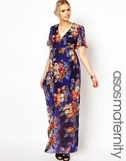 ASOS Maternity Maxi Dress In Vintage Floral Print