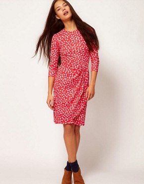 Image 4 ofPeople Tree Organic Cotton Floral Wrap Dress