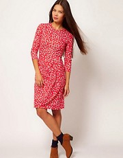 People Tree Organic Cotton Floral Wrap Dress