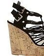 Image 2 of New Look Glarish Multi Strap Platform Wedges