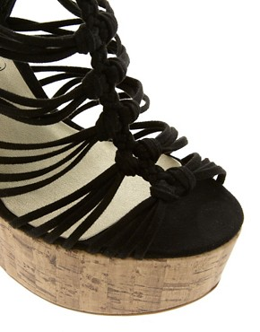 Image 4 of New Look Glarish Multi Strap Platform Wedges