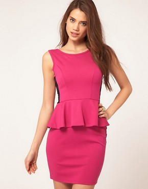 Image 1 ofLipsy Peplum Ponte Dress