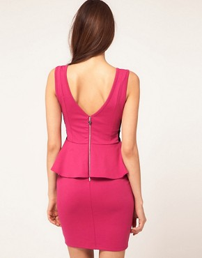 Image 2 ofLipsy Peplum Ponte Dress