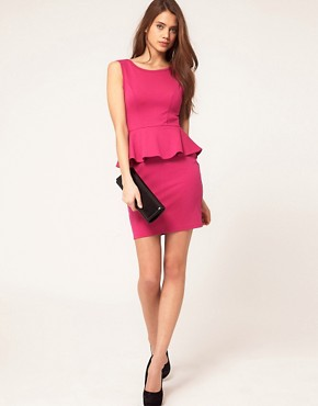 Image 4 ofLipsy Peplum Ponte Dress