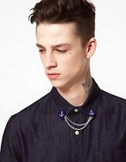 Tally &amp; Hoe Anchor Collar Chain